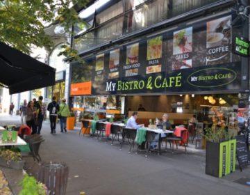 polep výlohy pro My Bistro and Café