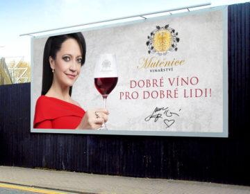 grafika billboardu Vinařství Mutěnice