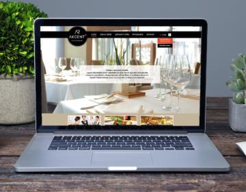 Webová stránka pro Akcent restaurant