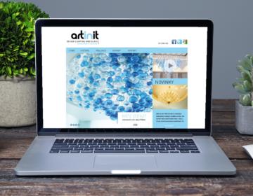 web a logo pro designová svítidla