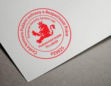 logo pro Českou komoru požární ochrany a bezpečnosti práce