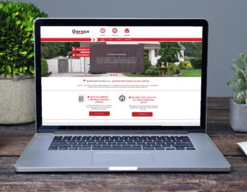 Webová stránka pro firmu zabývající se měřičema rychlosti a pojištěním