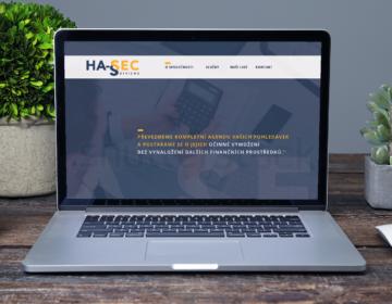 webová stránka pro HA-SEC