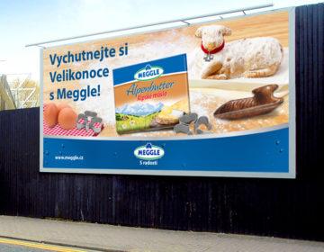 grafika billboardu Meggle