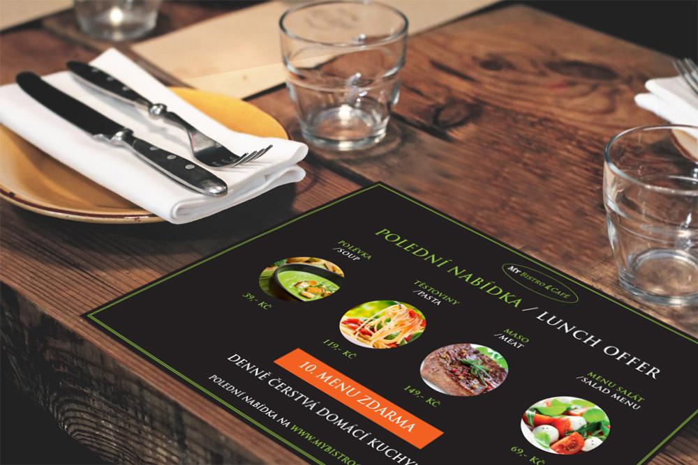 denní nabídka pro restauraci